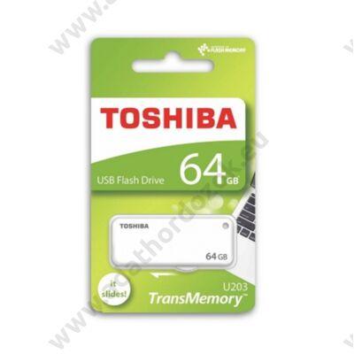 TOSHIBA U203 USB 2.0 PENDRIVE 64GB FEHÉR